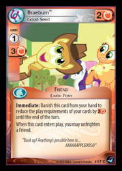 Size: 358x500 | Tagged: applejack, braeburn, ccg, enterplay, fluttershy, high magic, rarity, safe