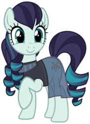 Size: 2200x3000 | Tagged: safe, artist:cheezedoodle96, coloratura, earth pony, pony, the mane attraction, .svg available, c:, clothes, cute, dress, happy, raised hoof, rara, rarabetes, simple background, smiling, solo, svg, transparent background, vector