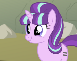 Size: 1078x858 | Tagged: safe, artist:mrslimonka, starlight glimmer, pony, unicorn, cute, eye shimmer, female, glimmerbetes, mare, scrunchy face, solo