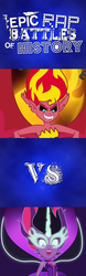 Size: 500x1600 | Tagged: safe, artist:magister39, artist:tourniquetmuffin, sci-twi, sunset shimmer, twilight sparkle, equestria girls, friendship games, epic rap battles of history, lyrics in the comments, meme, midnight sparkle, midnightsatan, sunset satan