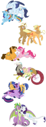 Size: 1024x2816 | Tagged: safe, artist:bluesidearts, edit, applejack, cheese sandwich, discord, flash sentry, fluttershy, pinkie pie, rainbow dash, rarity, soarin', spike, trenderhoof, twilight sparkle, alicorn, classical unicorn, dragon, pony, bedroom eyes, blushing, boop, cheesepie, colored wings, colored wingtips, comments more entertaining, cuddling, cute, diacheeses, diasentres, discoshy, discute, drinking, female, flashlight, floppy ears, fluffy, food, frown, grin, holding hooves, kissing, leonine tail, male, mane seven, mane six, mare, milkshake, mouth hold, noseboop, nuzzling, prone, questionable source, rainbow feathers, sharing, shipping, shipping war in the comments, smiling, snuggling, soarinbetes, soarindash, sparity, spread wings, straight, tail feathers, tail seduce, trenderjack, twilight sparkle (alicorn), unshorn fetlocks, wide eyes, winged spike