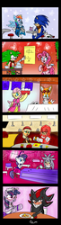 "Size: 600x2207 | Tagged: alicorn, applejack, appleknux, artist:kaiamurosesei, bar, clothes, crossover, crossover shipping, cuffs (clothes), female, fluttershy, fluttertails, food, interspecies, kimono (clothing), knuckles the echidna, maid, male, mane six, manicpie, manic the hedgehog, mare, miles ""tails"" prower, pinkie pie, pony, rainbow dash, rarity, restaurant, safe, serving tray, shadow the hedgehog, shadtwi, shipping, silvarity, silver the hedgehog, sonic boom, sonicdash, sonic the hedgehog, sonic the hedgehog (series), straight, twilight sparkle, twilight sparkle (alicorn), waitress"