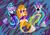 Size: 1024x712 | Tagged: safe, artist:deathladyshinigami, adagio dazzle, aria blaze, sonata dusk, mermaid, siren, equestria girls, belly button, clothes, midriff, siren tail, skirt, the dazzlings, watermark