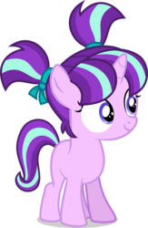 Size: 3268x5000 | Tagged: safe, artist:xebck, starlight glimmer, pony, unicorn, the cutie re-mark, .svg available, absurd resolution, cute, female, filly, filly starlight glimmer, glimmerbetes, hnnng, pigtails, simple background, smiling, solo, that was fast, transparent background, vector, when she smiles, younger