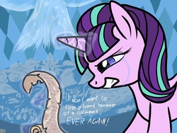 Size: 4096x3072 | Tagged: safe, artist:bropony2010, starlight glimmer, the cutie re-mark, crying, female, solo, spell, starswirl spell