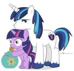 Size: 750x720 | Tagged: safe, artist:dm29, shining armor, twilight sparkle, pony, unicorn, brother and sister, caught, cookie, cookie jar, cookie thief, cute, duo, female, filly, filly twilight sparkle, julian yeo is trying to murder us, male, simple background, transparent background, twilight stealing a cookie, twily