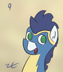 Size: 525x595 | Tagged: artist:liracrown, cute, liracrown's calendar, part of a series, part of a set, pony, safe, soarin', soarinbetes, solo, wonderbolts uniform