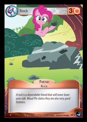 Size: 358x500 | Tagged: card, ccg, enterplay, high magic, pinkie pie, safe, token, trading card