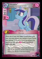 Size: 358x500 | Tagged: card, ccg, enterplay, high magic, minuette, safe, token, trading card