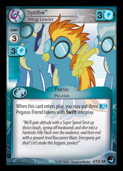 Size: 358x500 | Tagged: card, ccg, enterplay, high magic, pony, safe, soarin', spitfire, token, trading card