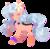 Size: 900x877 | Tagged: safe, artist:rannarbananar, oc, oc only, oc:island tide, original species, pond pony, flower, solo