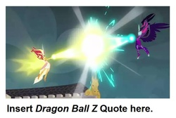 Size: 686x460   Tagged: safe, screencap, sci-twi, sunset shimmer, twilight sparkle, equestria girls, friendship games, daydream shimmer, dragon ball z, fight, midnight sparkle