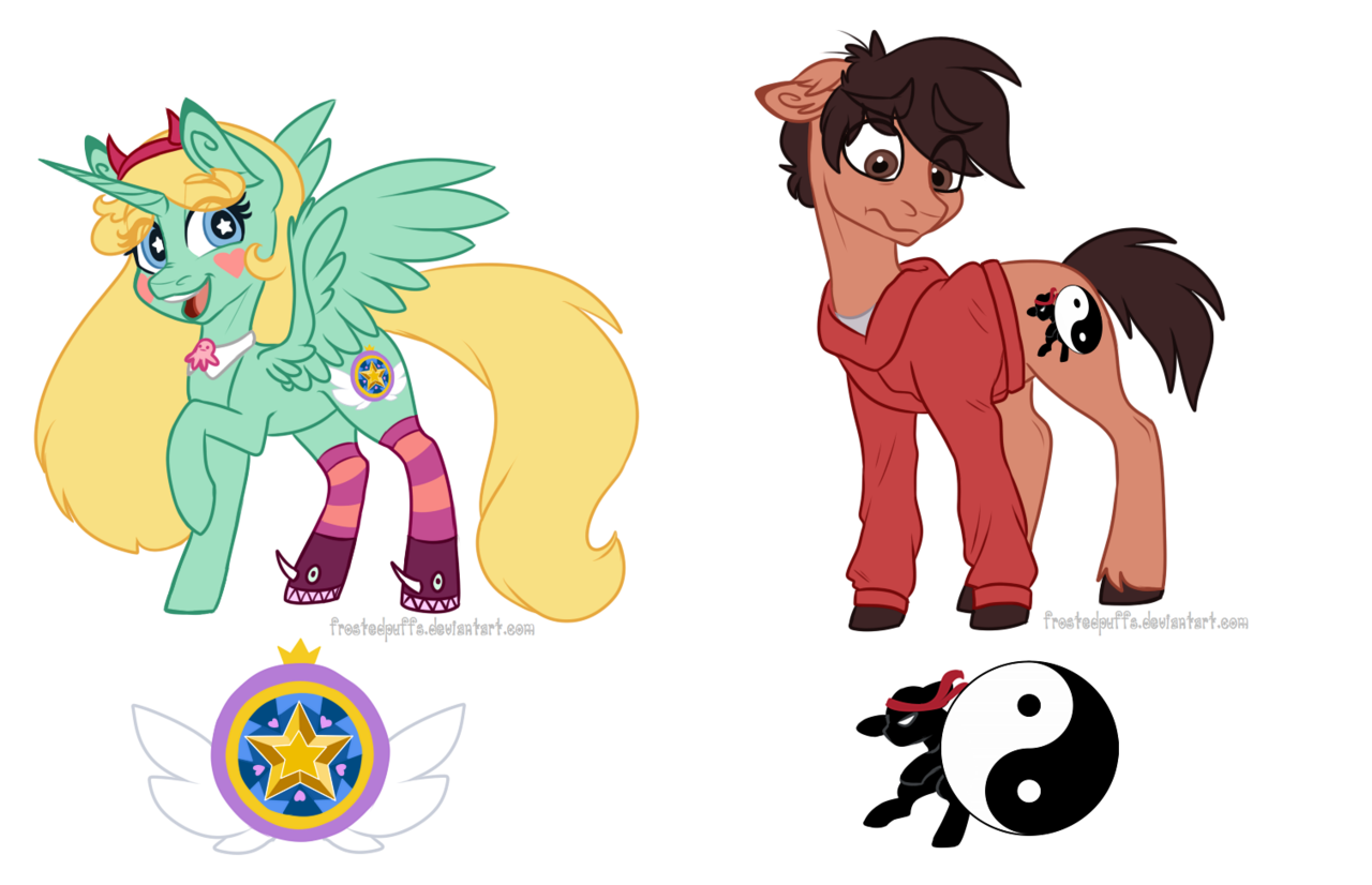 1044065 - artist:frostedpuffs, cutie mark, marco diaz, ponified ...