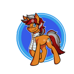 Size: 1000x1000 | Tagged: safe, artist:halfway-to-insanity, oc, oc only, oc:sentinel shield, clothes, glasses, scarf, solo