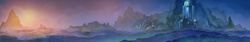 Size: 5284x881   Tagged: safe, artist:cmaggot, artist:simbaro, lullaby for a princess, castle of the royal pony sisters, everfree forest, no pony, panorama, ponyville, scenery, scenery porn, stars, twilight (astronomy)