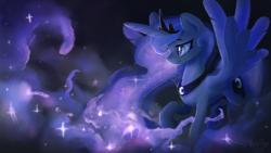 Size: 7680x4320 | Tagged: safe, artist:darkflame75, princess luna, alicorn, pony, commission, female, mare, signature, solo, spread wings