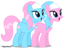Size: 4029x3000 | Tagged: safe, artist:brony-works, aloe, lotus blossom, earth pony, pony, cute, high res, simple background, spa twins, spaww twins, transparent background