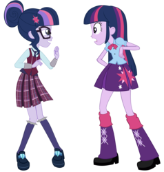 Size: 6854x7200 | Tagged: safe, artist:shafty817, edit, sci-twi, twilight sparkle, equestria girls, friendship games, absurd resolution, clothes, crystal prep academy uniform, new and improved sci-twi, redesign, school uniform, simple background, transparent background, twilight sparkle (alicorn), twolight