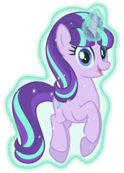 Size: 6461x8998 | Tagged: safe, artist:osipush, starlight glimmer, the cutie re-mark, absurd resolution, female, happy, horn, inkscape, levitation, magic, open mouth, self-levitation, simple background, solo, telekinesis, transparent background, vector