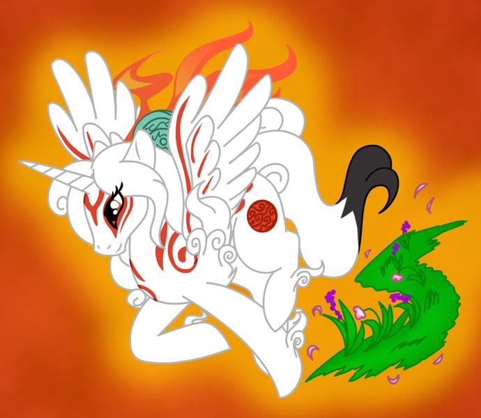 1048662 Alicorn Amaterasu Artist Akuoreo Okami Ponified Pony Safe Solo Derpibooru (we got permission) want to help support my work, join my patreon or donate on. derpibooru