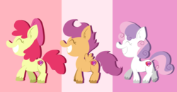 Size: 1000x521 | Tagged: apple bloom, artist:typhwosion, cutie mark, cutie mark crusaders, safe, scootaloo, sweetie belle, the cmc's cutie marks, unshorn fetlocks