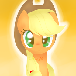 Size: 1000x1000 | Tagged: applejack, artist:frostsentry150, part of a set, safe, solo