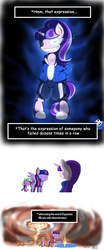 Size: 578x1383 | Tagged: safe, artist:od20plus, spike, starlight glimmer, twilight sparkle, alicorn, pony, the cutie re-mark, atomic bomb, bad time, bipedal, clothes, crossover, determination, determined, female, grin, mare, sans (undertale), scene interpretation, smiling, spoilers for another series, spread wings, twilight friskle, twilight sparkle (alicorn), undertale, wide eyes