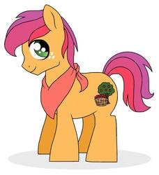 Size: 597x654 | Tagged: safe, artist:unoriginai, oc, oc only, oc:buckaroo, colt, cute, magical lesbian spawn, male, neckerchief, offspring, parent:apple bloom, parent:scootaloo, parents:scootabloom