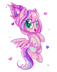 Size: 900x1144 | Tagged: safe, artist:ipun, oc, oc only, oc:sweet skies, pegasus, pony, blushing, female, heart, heart eyes, looking at you, mare, open mouth, simple background, smiling, solo, transparent background, wingding eyes