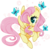 Size: 522x515 | Tagged: safe, artist:suzuii, fluttershy, butterfly, female, solo