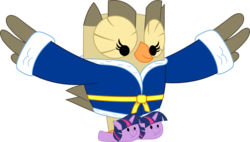 Size: 3582x2031 | Tagged: safe, artist:porygon2z, owlowiscious, bathrobe, clothes, simple background, slippers, solo, transparent background, twily slippers, vector