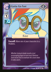 Size: 358x500 | Tagged: ccg, enterplay, gotta go fast, high magic, rainbow dash, safe