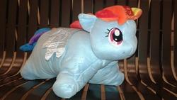 Size: 2560x1440 | Tagged: safe, rainbow dash, pony, irl, photo, pillow pet, ponies