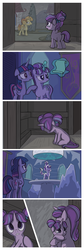 Size: 1280x3810 | Tagged: safe, artist:inkygarden, starlight glimmer, sunburst, twilight sparkle, alicorn, pony, unicorn, the cutie re-mark, blaze (coat marking), castle, coat markings, comic, crying, cute, double the glimmer, eyes closed, facial markings, feels, female, filly, filly starlight glimmer, floppy ears, frown, glimmerbetes, heartwarming, hug, levitation, magic, mare, ponies riding ponies, rain, riding, self adoption, self ponidox, sitting, socks (coat markings), telekinesis, this will end in timeline distortion, time paradox, time travel, twilight sparkle (alicorn), wavy mouth, wide eyes, younger