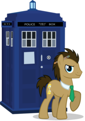 Size: 700x1000   Tagged: safe, artist:theevilflashanimator, doctor whooves, time turner, earth pony, crossover, doctor who, male, necktie, simple background, sonic screwdriver, stallion, tardis, the doctor, transparent background, vector