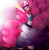 Size: 2949x3000 | Tagged: safe, artist:kelisah, pinkie pie, anthro, unguligrade anthro, friendship is witchcraft, armpits, belly button, belly dancer, bipedal, female, gypsy pie, solo