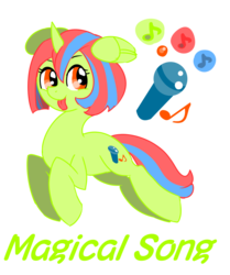 Size: 669x800 | Tagged: safe, artist:opya, oc, oc only, oc:magical song, pony, unicorn, reference sheet, wing ears