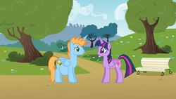 Size: 1024x576 | Tagged: safe, artist:20thx5150, twilight sparkle, oc, oc:harmony star, alicorn, pony, canon x oc, female, male pregnancy, mare, pregnant, twilight sparkle (alicorn)