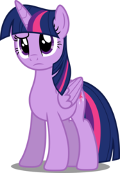 Size: 3000x4338   Tagged: safe, artist:dashiesparkle, twilight sparkle, alicorn, pony, the cutie map, confused, cute, female, folded wings, frown, mare, raised eyebrow, simple background, solo, transparent background, twiabetes, twilight sparkle (alicorn), vector, wings