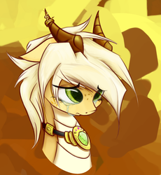 Size: 1000x1085   Tagged: safe, artist:scootiebloom, oc, oc only, oc:arita, dracony, dragon, hybrid, pony, crying, horn ring, necklace, sad