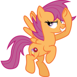 Size: 8000x8000 | Tagged: absurd res, alternate cutie mark, artist:strawberry-pannycake, bedroom eyes, flying, grin, looking at you, older, safe, scootaloo, simple background, smiling, smirk, solo, spread wings, svg, transparent background, vector