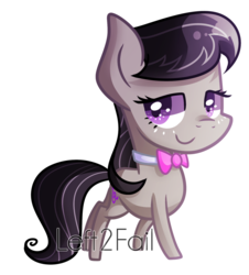 Size: 1568x1736 | Tagged: safe, artist:drawntildawn, octavia melody, earth pony, pony, chibi, female, simple background, smiling, solo, transparent background, watermark