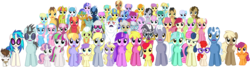 Size: 5564x1492 | Tagged: aloe, alula, amethyst star, apple bloom, artist:punzil504, berry punch, berryshine, big macintosh, blossomforth, bon bon, bon bon is not amused, bulk biceps, caramel, carrot top, cheerilee, cherry berry, cherry cola, cherry fizzy, cloud kicker, daisy, derpy hooves, diamond tiara, dinky hooves, dizzy twister, dj pon-3, doctor whooves, female, flower wishes, golden harvest, granny smith, helia, lemon hearts, lightning bolt, lily, lily valley, linky, lotus blossom, lucky clover, lyra heartstrings, mare, mayor mare, meadow song, merry may, minuette, mjölna, neon lights, orange swirl, parasol, pegasus, photo finish, pipsqueak, pokey pierce, pony, punzil504, rainbowshine, rising star, roseluck, royal riff, safe, sassaflash, scootaloo, seafoam, sea swirl, shoeshine, silver spoon, simple background, snails, snips, sparkler, spring melody, sprinkle medley, star hunter, sunshower raindrops, sweetcream scoops, sweetie belle, sweetie drops, time turner, transparent background, twinkleshine, twist, vinyl scratch, white lightning, zebra, zecora