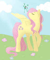 Size: 701x847 | Tagged: safe, artist:princess-hanners, fluttershy, hummingbird, solo