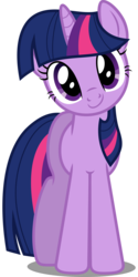 Size: 5000x10000 | Tagged: safe, artist:dashiesparkle, twilight sparkle, pony, unicorn, absurd resolution, cute, female, head tilt, looking at you, mare, simple background, smiling, solo, standing, svg, transparent background, twiabetes, unicorn twilight, vector