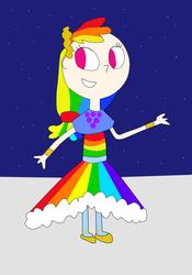 Size: 672x958   Tagged: safe, artist:04startycornonline88, rainbow dash, human, the best night ever, clothes, dress, female, gala dress, humanized, solo