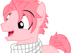 Size: 751x563 | Tagged: safe, artist:bronyhighfive63, dracony, fairy tail, natsu dragneel, ponified, solo