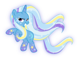 Size: 3000x2258 | Tagged: safe, artist:xebck, trixie, pony, unicorn, female, mare, rainbow power, rainbow power-ified, simple background, solo, transparent background, vector