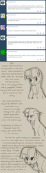 Size: 1024x3816 | Tagged: safe, artist:tlatophat, twilight sparkle, pony, unicorn, alternate universe, ask, comic, implied pinkie pie, sketch, sketchbook twilight, solo, tumblr