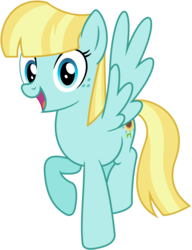Size: 2193x2858 | Tagged: safe, artist:bluemeganium, helia, pegasus, pony, background pony, female, flying, looking at you, mare, open mouth, raised hoof, recolor, simple background, solo, transparent background, vector